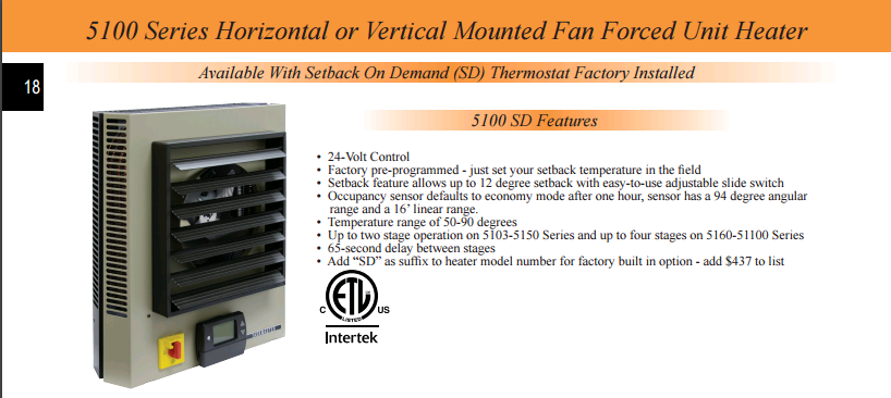 Tpi Taskmaster 5100 Series 20kw Horizontal Or Vertical Fan